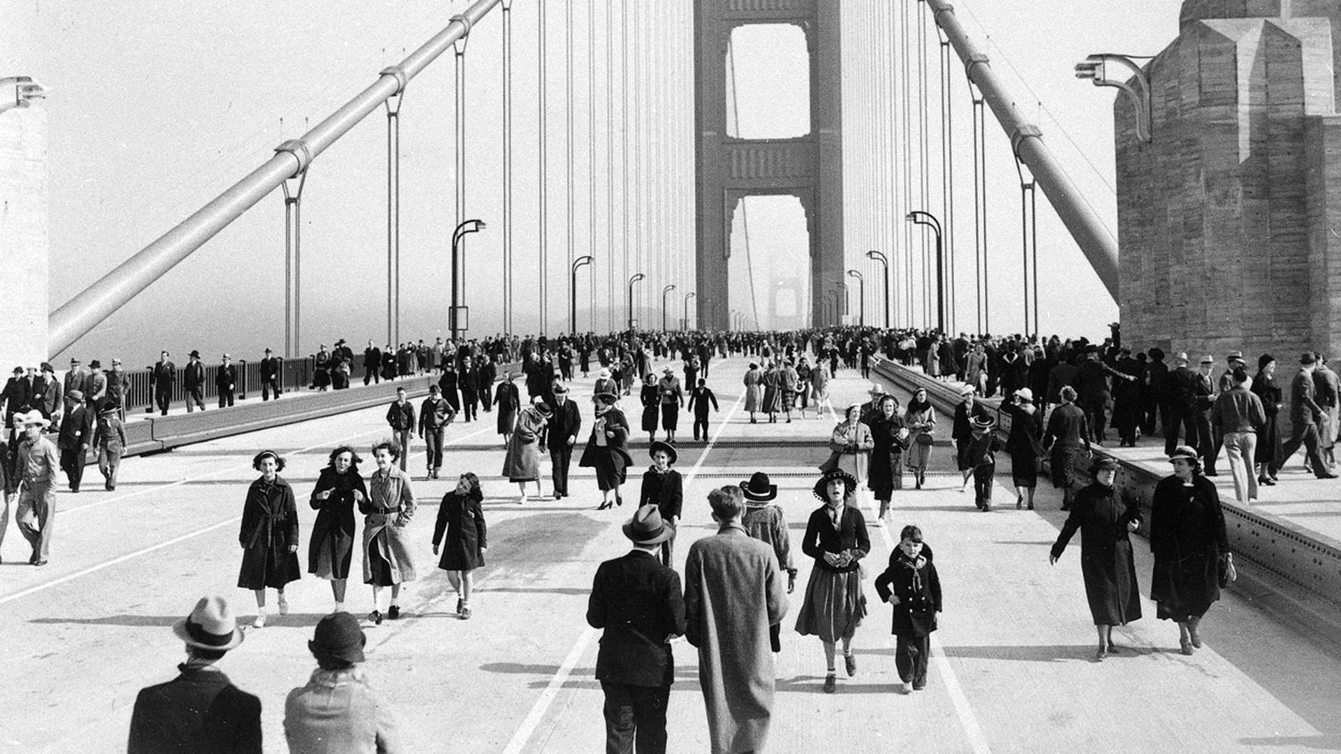 Opening Day on the Golden Gate Bridge, 1937
