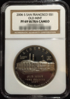 2006-S Proof Old Mint Commemorative Silver Dollar – NGC Graded