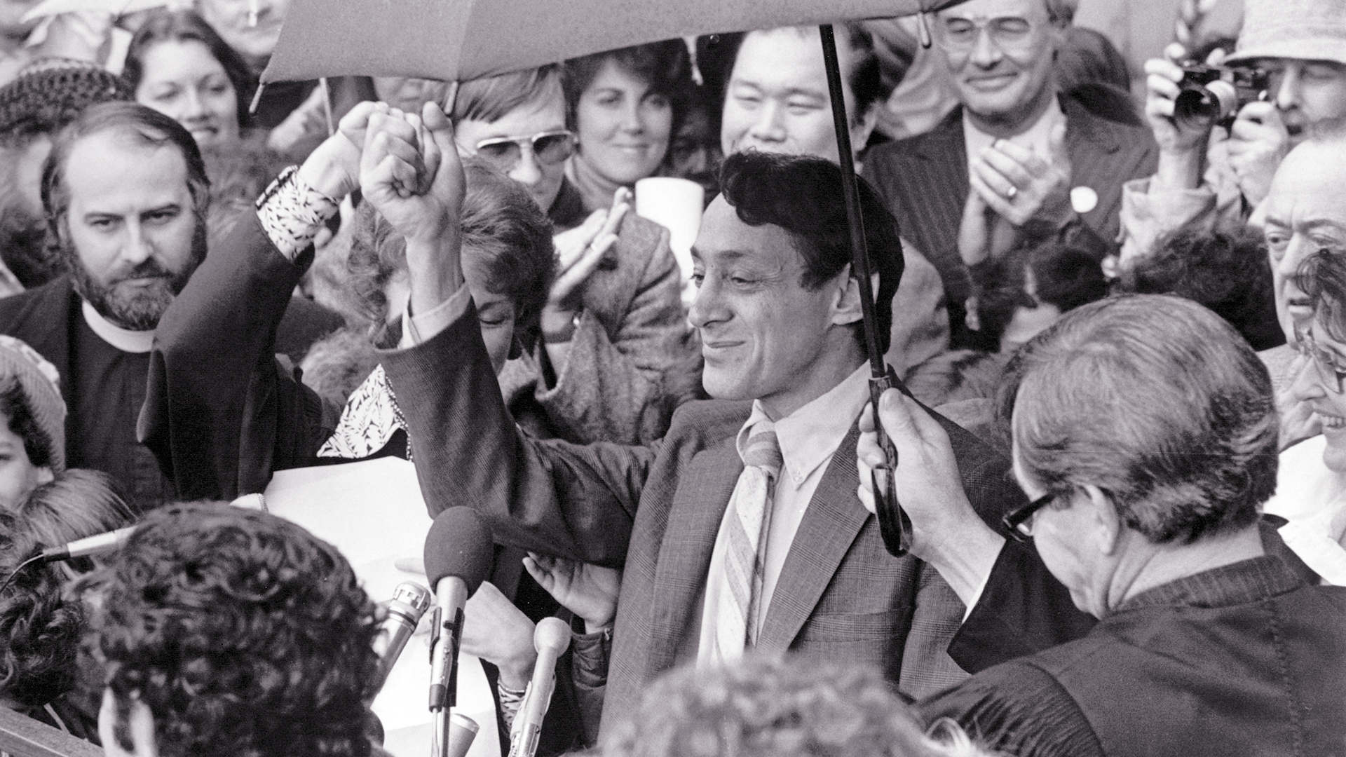 Harvey Milk at inauguration