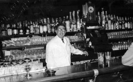 A young Carl Lombardi bartending. Author's collection.