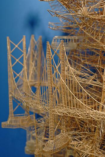 Scott Weaver toothpicks sculpture San Francisco